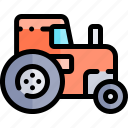 autumn, fall, nature, season, tractor, weather icon