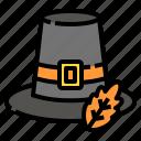 costume, fashion, hat, pilgrim, thanksgiving icon