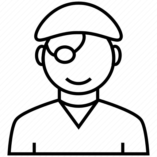 avatar, beard, captain, facial hair, man, people, pirate, user icon