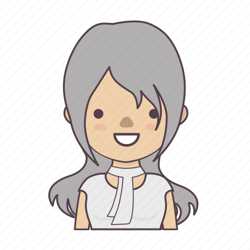cartoon character, character, character set, stroke character, woman icon