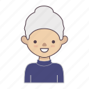 cartoon character, character, character set, grandmother, stroke character, woman icon