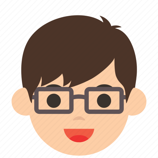 avatar, character, face, glasses, man, profile, user icon