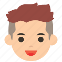 avatar, character, face, man, profile, two block, user icon