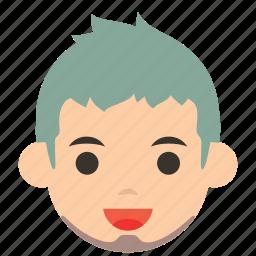 avatar, beard, character, man, person, profile, user icon