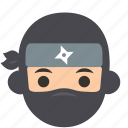 avatar, character, man, ninja, profile, thief, user icon