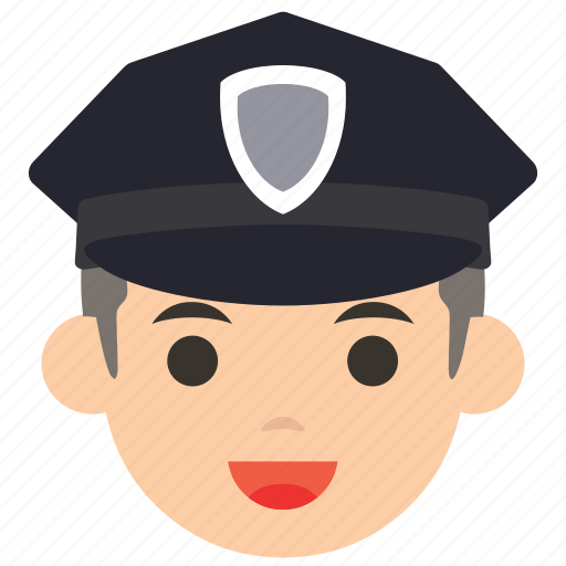 avatar, character, face, man, police, profile, user icon