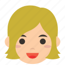 avatar, character, person, profile, tresses, user, woman icon