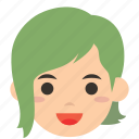 avatar, character, face, person, profile, user, woman icon