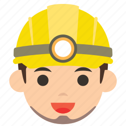 avatar, character, man, miner, profile, user, worker icon