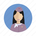 avatar, stewardess, user, woman icon