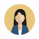 avatar, employer, user, woman icon
