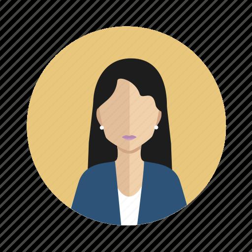 avatar, employer, user, woman icon
