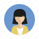 avatar, student, user, woman icon