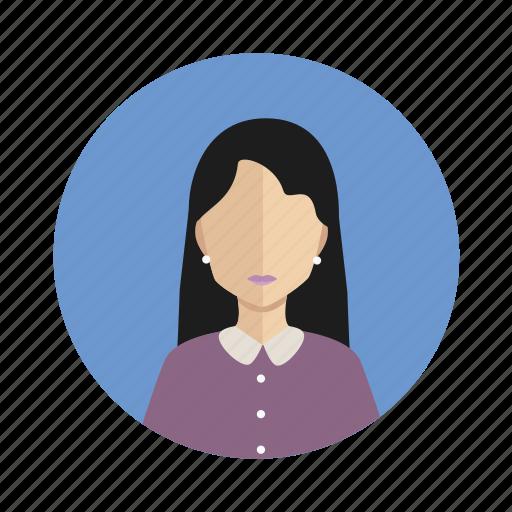 avatar, leader, user, woman icon