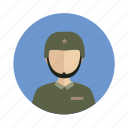 avatar, male, man, military icon