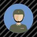 avatar, male, man, military
