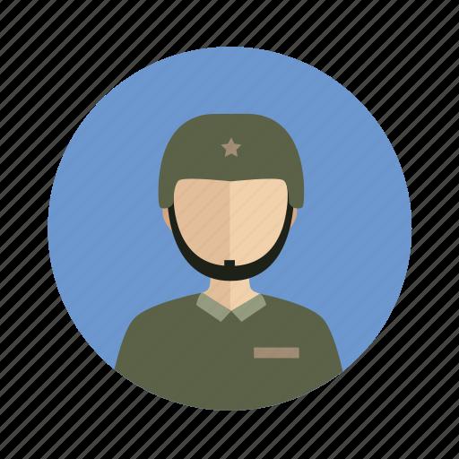 avatar, male, man, military icon