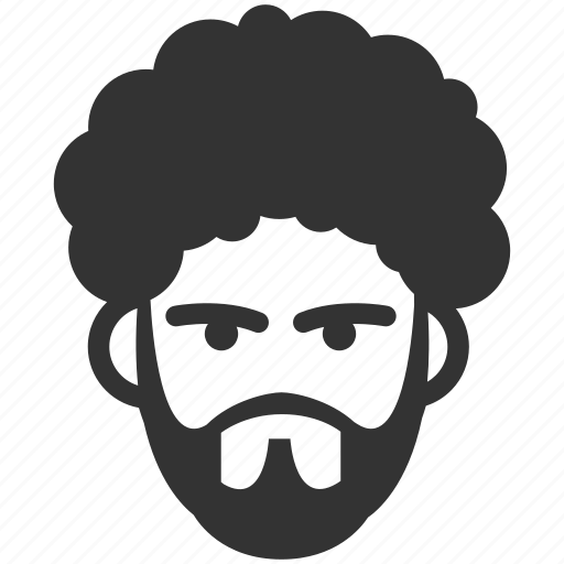 Afro, avatar, beard, male, man, profile, user icon - Download on Iconfinder