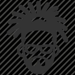dreadlock, face, hipster, man, reggae, ska, south american icon