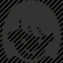 avatar, face, female, girl, profile, user, woman icon
