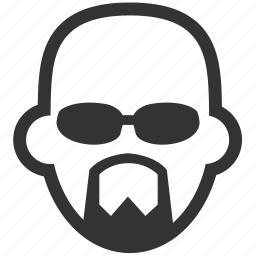 avatar, bald, beard, face, glabrous, guard, man icon