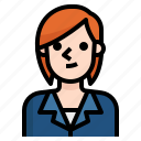 avatar, business, girl, hair, red, short, woman