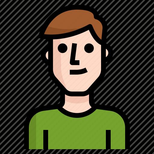 avatar, boy, guy, handsome, man, straight icon