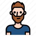 avatar, beard, guy, handsome, man, short, spiky icon