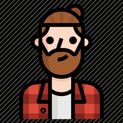avatar, beard, guy, handsome, hipster, man, undercut icon