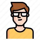 avatar, glasses, guy, handsome, man, short icon