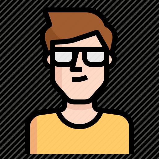 avatar, glasses, guy, handsome, man, short icon