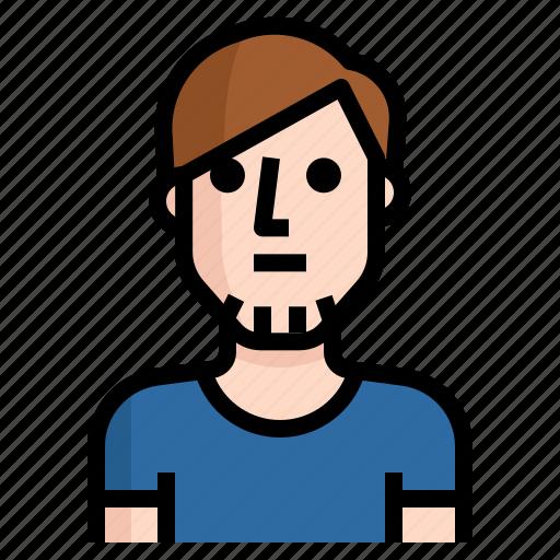 avatar, guy, handsome, man, straight icon