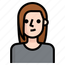 avatar, brown, girl, hair, long, straight, woman