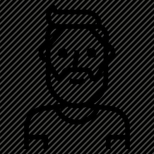 avatar, beard, guy, handsome, hipster, man icon