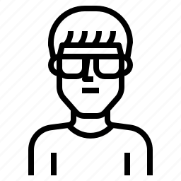 avatar, fringe, glasses, guy, handsome, man, short icon