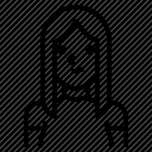 avatar, blonde, girl, hair, long, straight, woman icon