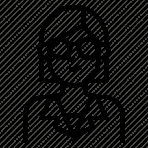 avatar, blonde, girl, hair, short, straight, woman icon