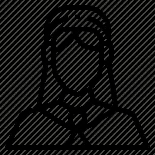 arab, avatar, girl, hijab, people, user, woman icon