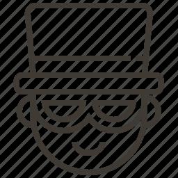 avatar, boy, glasses, hat, man, user icon