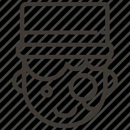 avatar, boy, man, monocle, user icon