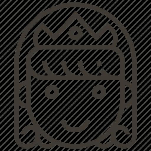 avatar, girl, princess, queen, user, woman icon