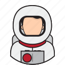 astronaut, avatar, space icon