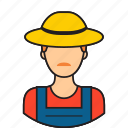 avatar, farmer, hat, man