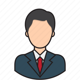 avatar, businessman, employee, manager, worker icon