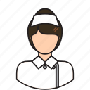 assistant, avatar, female, medic, medical, nurse icon