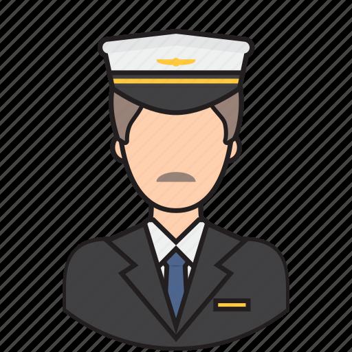 avatar, job, man, pilot icon