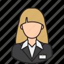 airport, avatar, hotel, receptionist