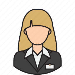 airport, avatar, hotel, receptionist icon