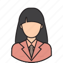 assistant, avatar, secretary, support icon