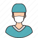 avatar, doctor, operate, surgeon icon
